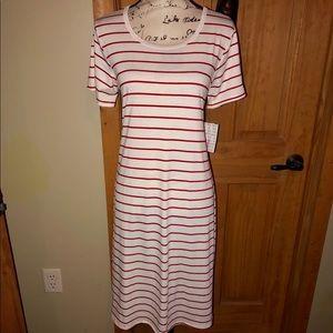 NWT M LLR Red & White Striped Jessie